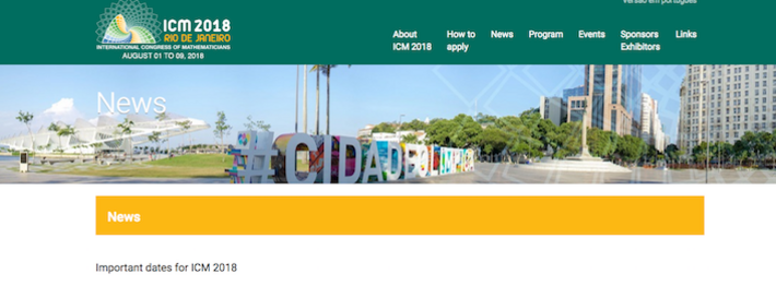 ICM 2018 Website logo