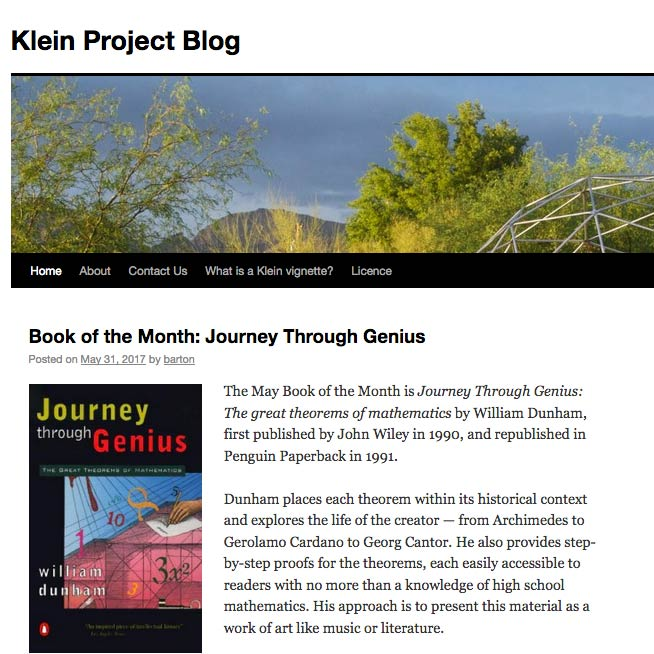 Picture for the Klein Project
