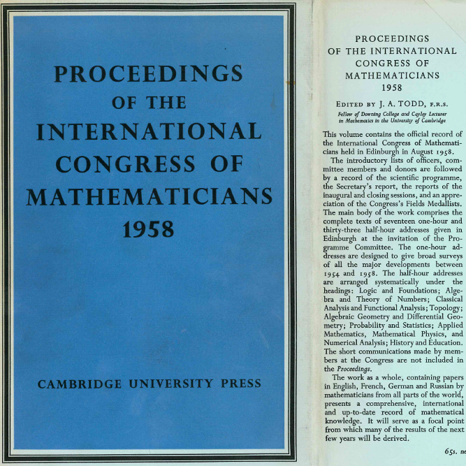 old ICM proceedings