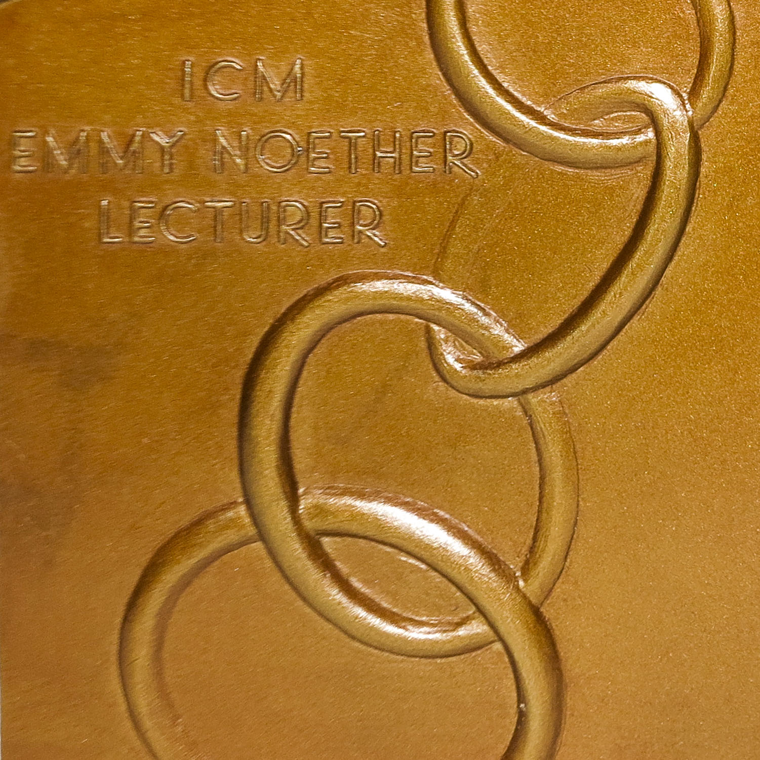 Emmy Noether Plaquette back, sculpted by Stephanie Magdziak