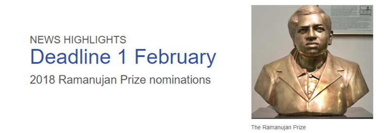 Ramanujan Prize Call for Nominations