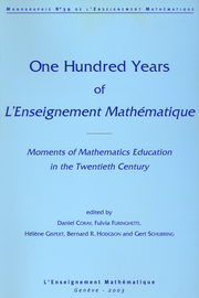 One Hundred Years of L'Enseignement Mathématique :